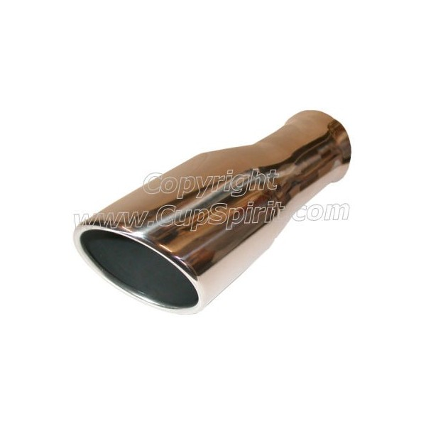 Sortie inox 102mm ourlet intérieur roulé