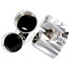 Jeu de 2 double sorties inox polies CUP EXHAUST 76/90mm