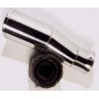 Sortie inox SCART 90mm avec ourlet + insert amovible