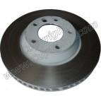 Disque Avant Gauche 350mm - Bol peint gris anti-corrosion