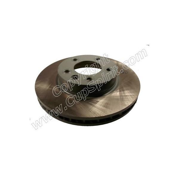 Disque avant droit 330mm - Bol peint gris anti-corrosion