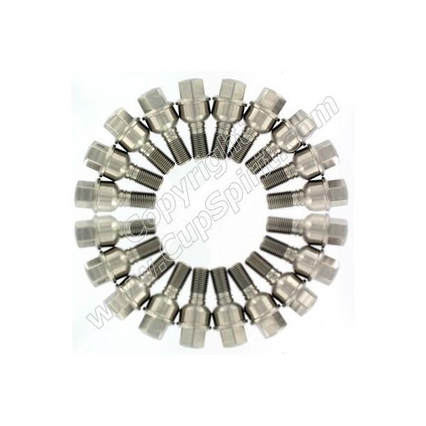 Jeu de 20 vis de roue inox 35mm (pour élargisseurs 14-15mm)
