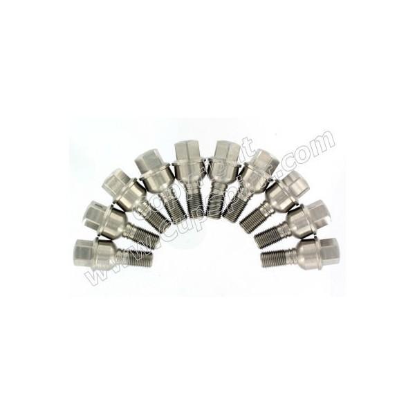 Jeu de 10 vis de roue inox 28mm (pour élargisseurs 5-7mm)