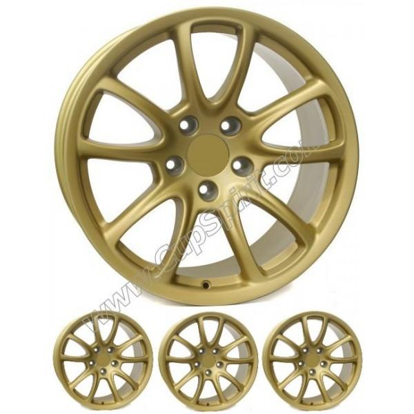 Pack 4 jantes style GT3 RS 19 pouces (AV:8.5 ET53 AR:12 ET67) GOLD