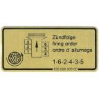 Etiquette adhesive, ordre allumage