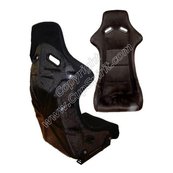 Siège baquet style RS Alcantara et carbone