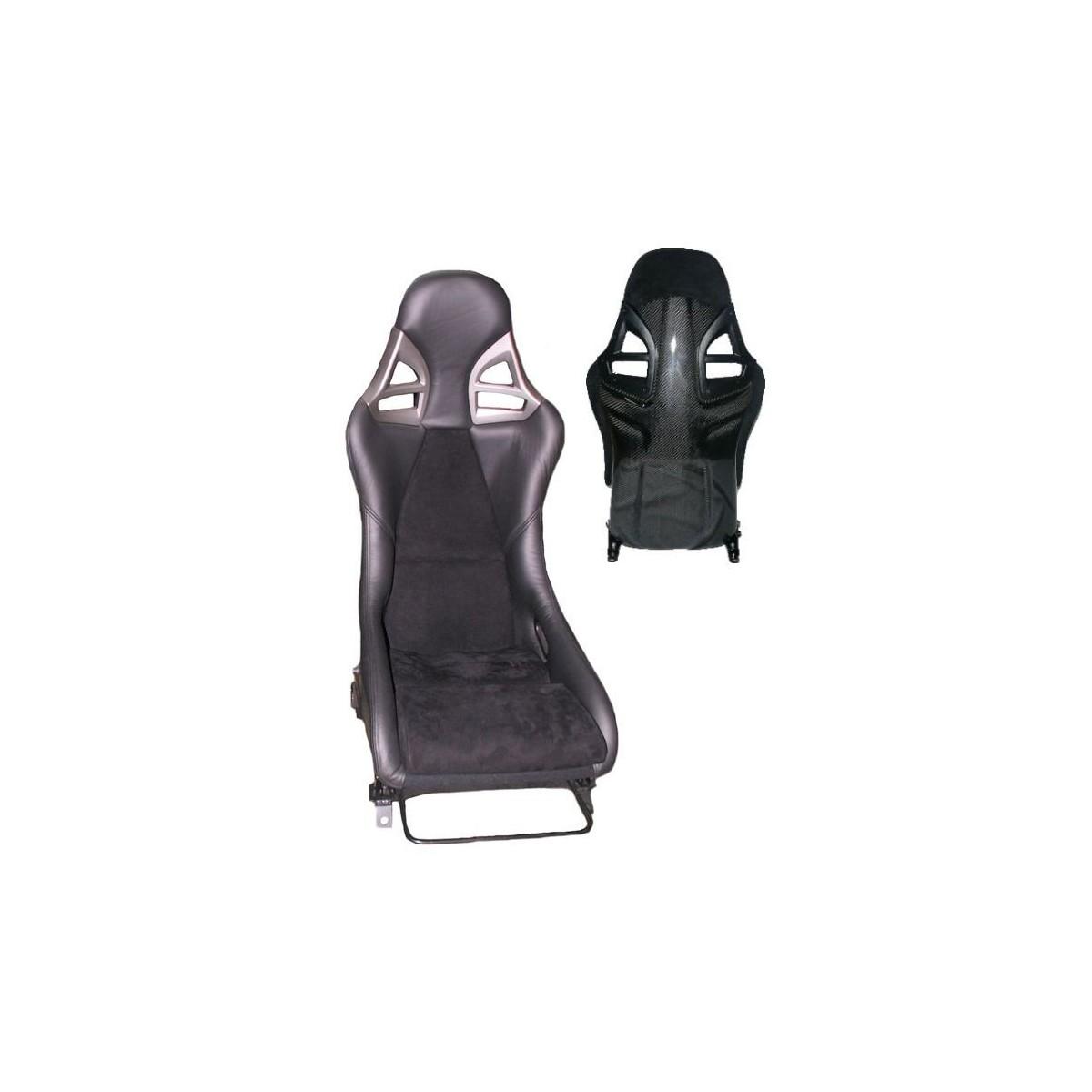 siège baquet style 997 gt3 alcantara-cuir et carbone porsche - cupspirit