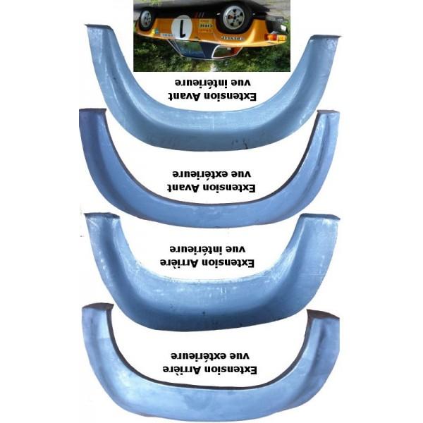 Jeu de 4 extensions aile tôle 914-6 GT