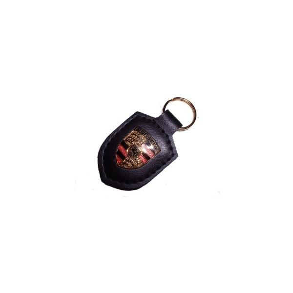 Porte clé écusson Porsche noir